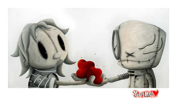 "Fabio Napoleoni ""My love for your Love ""  Limited SN Paper -12"" X 22""  Edition of 555"