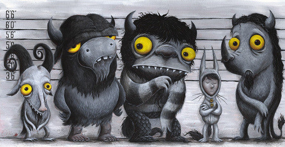 "Justin Hillgrove ""Max wore his Wolf Suit"" Limited Edition Canvas Giclee"