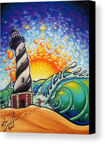 "Drew Brophy Art ""CAPE HATTERAS LIGHTHOUSE "" S/N Limited edt Canvas 14"" x 18"" Edition of 100"