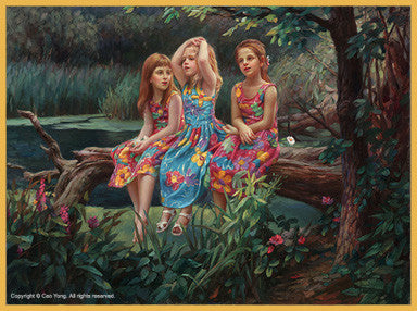 "Cao Yong CAO YONG ""Friends"" Limited Edition H/E CANVAS 18"" by 24"" Paintings"