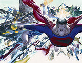 "Art Center Gallery Alex Ross Art ""KINGDOM COME: Absolute "" S/N Paper Lithographs 20"" by 16"" Edition 50 Giclee Canvas Prints"