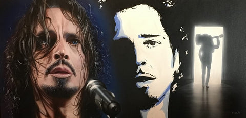 "Stickman ""Chris Cornell "" Canvas Giclee  Limited Edition"
