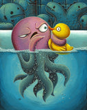 "Justin Hillgrove ""The Squeeze"" 16"" x 20"" Limited A/P Edition Canvas of 114 Canvas & Paper Giclees & Prints"