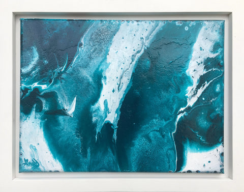"Ashton Howard Ashton Howard "" Navigating-the-Deep-Blue"" Size : 11"" by 14"" -  Original Canvas-Framed Original"