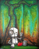 "Fabio Napoleoni- ""If Only I could Go Back""- Limited AP Edition 14 - 31 x 38""  Framed - Art Center Gallery"