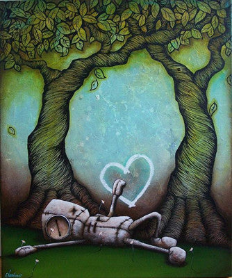 "Fabio Napoleoni-  ""Please Fill the Emptiness"" - Limited Open Edition- 8 x 10 Paper Giclee - Art Center Gallery"