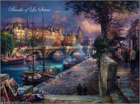 "Cao Yong ""Banks of La Seine"" Limited Edition Canvas Giclee"