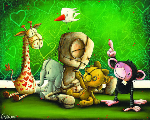 "Fabio Napoleoni """" Best Friends (Metal) ""  Limited  Metal  - 8"" X  10""  Edition of 350"
