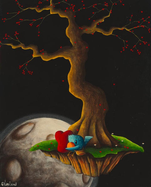 "Fabio Napoleoni-  ""Courier of Love and Hope"" - Size 15 by 20 SN 127 - Art Center Gallery"
