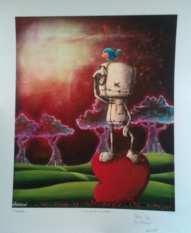 "Fabio Napoleoni-"" I look for you in my Dreams "" Edition SN 47 - 29.5"" by 24.5""- Paper - Art Center Gallery"