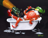 "Michael Godard ""Bubbly Bath 2 "" 17.5"" by 22"" Limited Ed G Series 150 - Art Center Gallery"