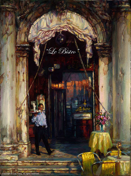 "Cao Yong ""Le Bistro"" Limited Edition Canvas Giclee"