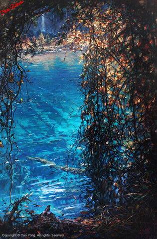 "Cao Yong ""Jiuzhaigou Valley I"" Limited Edition Canvas Giclee"