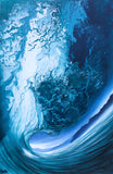 "Ashton Howard ""Aqua-Blue"" Size : 20"" by 30"" -  Original Canvas"