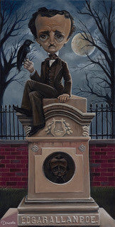 "Bob Doucette ""Ghost Poe"" - Limited SN Edition- 12x24- Canvas Giclee Edition #100 Limited Edition Canvas Giclee"