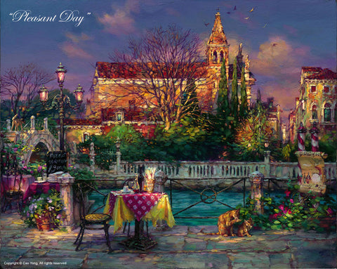 "Cao Yong ""Pleasant Day"" Limited Edition Canvas Giclee"