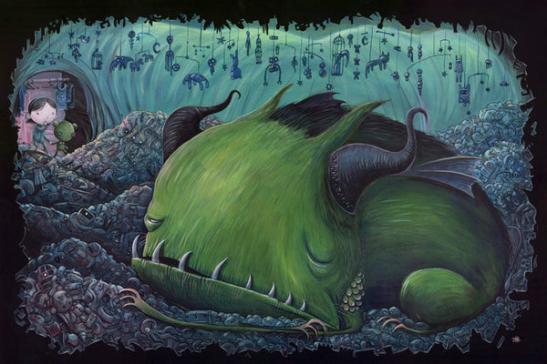 "Justin Hillgrove ""The Hoarder"" 12"" x 18"" Limited A/P Paper Edition of  18 Canvas & Paper Giclees & Prints"