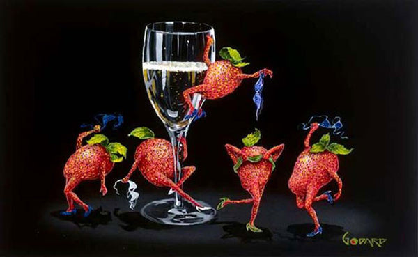 "Michael Godard ""Strawberries Gone Wild"" 22 by 17.5 Limited Ed G Series 150 - Art Center Gallery"