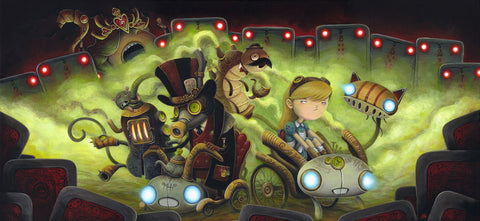 "Justin Hillgrove ""We all Mad Here"" 18"" x 30"" Limited A/P Edition Canvas of 114 Canvas & Paper Giclees & Prints"