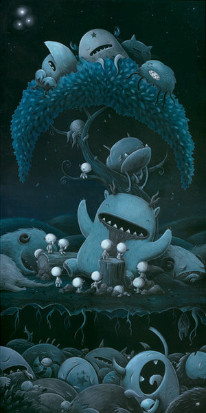 "Justin Hillgrove ""Bedtime Stories "" 14"" x 28"" Limited A/P Paper Edition of  18 Canvas & Paper Giclees & Prints"