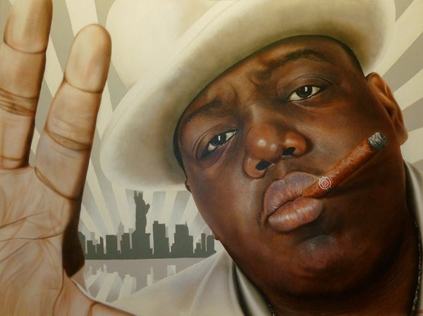 "Stickman ""Hard To Creep Them Brooklyn Streets"" (Biggie Smalls) Limited Edition Canvas Giclee"