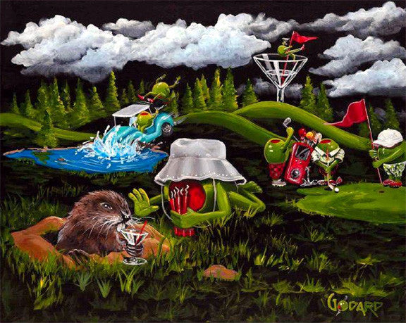 "Michael Godard - "" Caddy Shack"" Limited SN Canvas of 150 28""  by 35"" - Art Center Gallery"