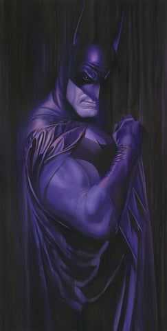 "Art Center Gallery Alex Ross Art ""SHADOW : BATMAN"" S/N Canvas Giclee  17.25"" x 34.75"" Edition of 50 Giclee Canvas Prints"