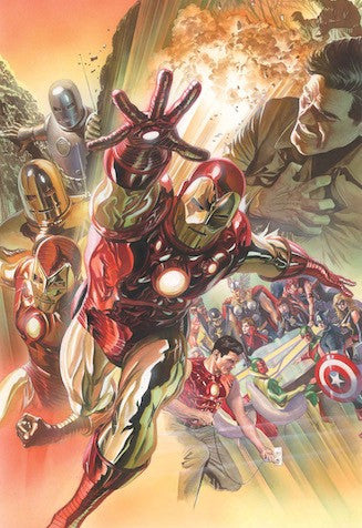 "Alex Ross Art ""Superior Iron Man "" S/N edition Canvas giclees: 19.5"" x 30"" Edition of 75"