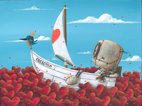 "Fabio Napoleoni ""Sailing Takes Me Away""/"" Brings Me Joy"" Ltd Edition Canvas & Paper - Art Center Gallery"