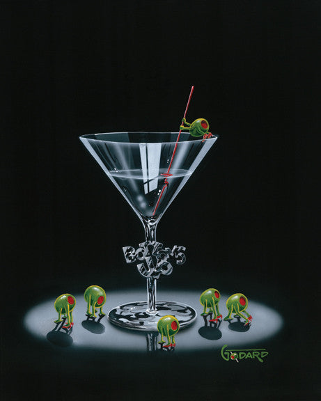 "Michael Godard ""Bottoms Up""  28"" by 35"" Limited AP Edition of 30 -Art Center Gallery www.shopartcenter.com  1-866-254-6523"