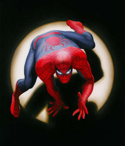 "Art Center Gallery Alex Ross Art "" SPIDER-MAN: MARVEL "" S/N edition Canvas giclees:  23.75"" x 28"" Edition of 100 Canvas Giclee"
