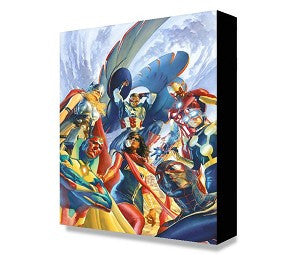 "Art Center Gallery Alex Ross Art ""AVENGERS  # 1  "" S/N mini edition giclees: 11.5"" x 17.5"" Edition of 500 Giclee Canvas Prints"