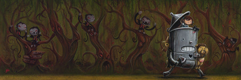 "Justin Hillgrove "" Through The Haunted Forest"" 10"" x 30"" Limited A/P Edition Canvas of 114"