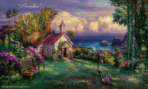 "Cao Yong ""Paradise"" Limited Edition Canvas Giclee"