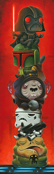 "Justin Hillgrove ""Dark Side"" Size 10"" x 30"" Limited A/P Edition Canvas of 114 Canvas Giclee"