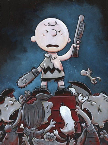 "Justin Hillgrove ""Army of Darkness , Charlie Brown 16"" x 20"" Limited A/P Canvas of 114"