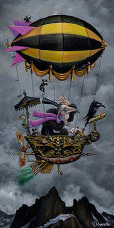 "Bob Doucette Bob Doucette-""Death Desends"" - Limited SN Edition- 12x24- Canvas Giclee Edition #100 Giclee Canvas Prints"