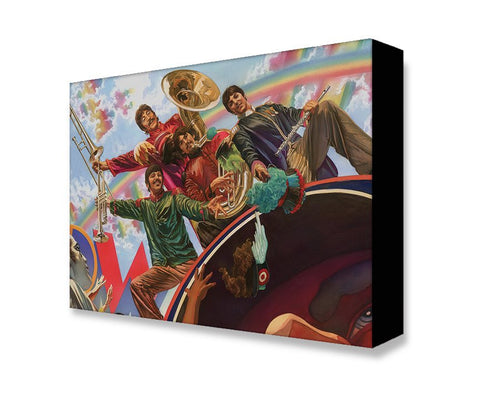 "Art Center Gallery Alex Ross Art ""Yellow Submarine Fab Four"" S/N mini edition giclee: 19"" x 13"" Edition of 500 Giclee Canvas"