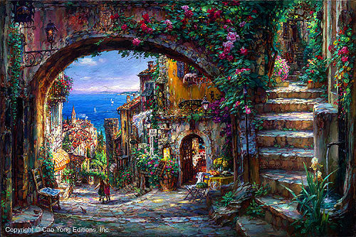 "CAO YONG ""The Vision Beyond"" LIMITED EDITION H/E CANVAS 20"" by 30"" -Art Center Gallery www.shopartcenter.com  1-866-254-6523"