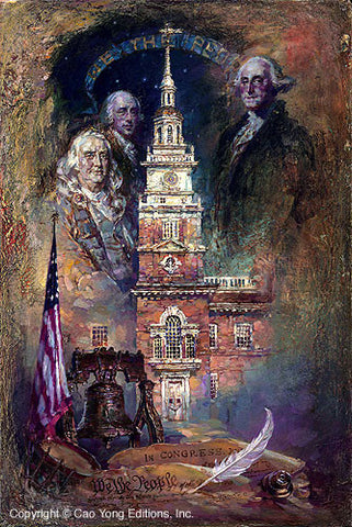 "CAO YONG ""We the People"" LIMITED EDITION H/E CANVAS 30"" by 20"" -Art Center Gallery www.shopartcenter.com  1-866-254-6523"