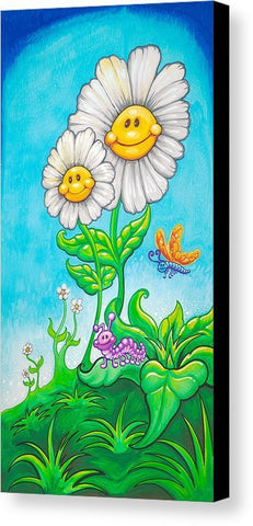 "Drew Brophy Art "" Happy Daises"" S/N Limited edt Canvas 12"" x 24"" Edition of 250"