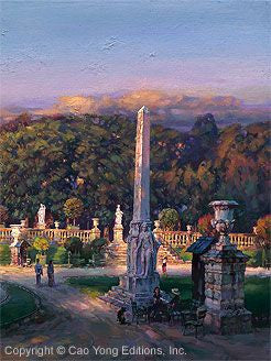 "Cao Yong ""The Luxembourg Garden III: Peaceful Movement"" Limited Edition Canvas Giclee"
