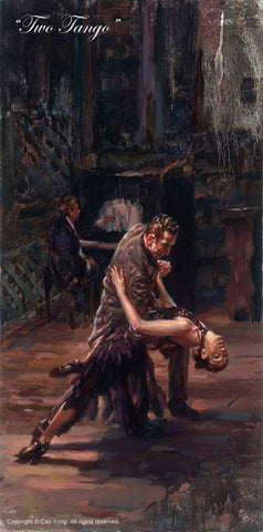 "Cao Yong Cao Yong ""Two Tango"" Limited Canvas Giclee"