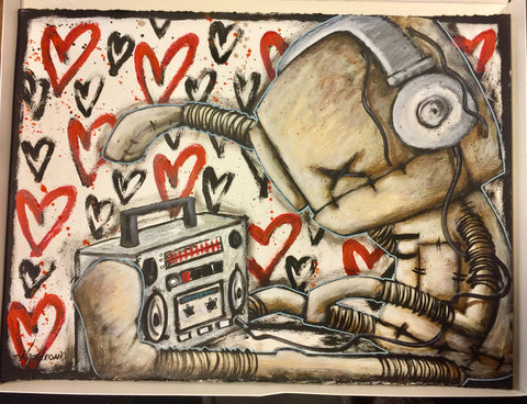 "Fabio Napoleoni- "" It's my jam "" - Size 22 by 30 "" Original Giclee paper one of a kind."