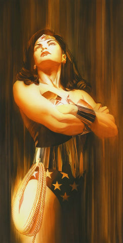 "Art Center Gallery Alex Ross Art ""SHADOWS :WONDER WOMAN"" S/N Canvas Giclee  33.75"" x 17.5"" Edition of 50 Giclee Canvas Prints"