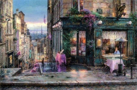 "Cao Yong ""Parisian Dreams"" Limited Edition Canvas Giclee"