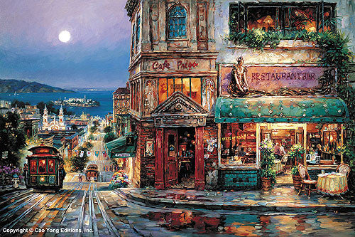 "Cao Yong ""Cafe Prego"" Limited Edition Canvas Giclee"