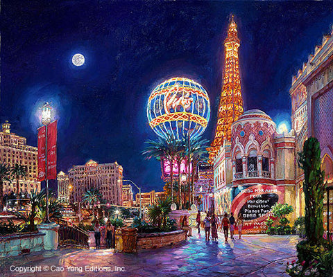 "Cao Yong ""Paris, Las Vegas"" Limited Edition Canvas Giclee"