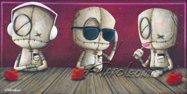"Fabio Napoleoni-""Keeping to Myself""- Limited Edition  8.5"" by 14"" Paper & Canvas"