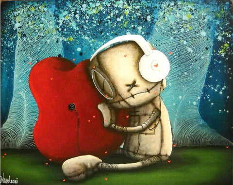 "Fabio Napoleoni-""I not only hear , but feel your love ""- Limited  S/N Edition Size 87- 16"" by 20""- Canvas Giclee"
